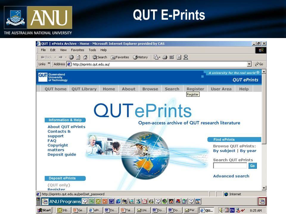 QUT E-Prints