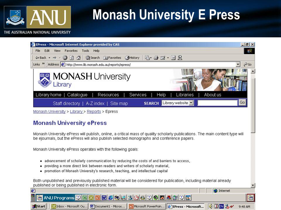 Monash University E Press