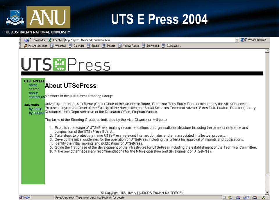 UTS E Press 2004