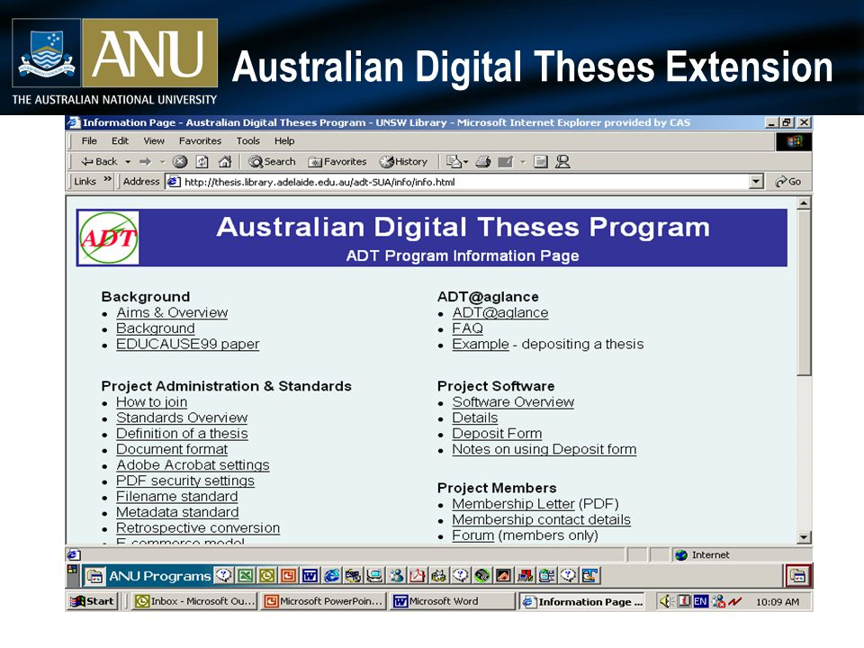 Australian Digital Theses Extension