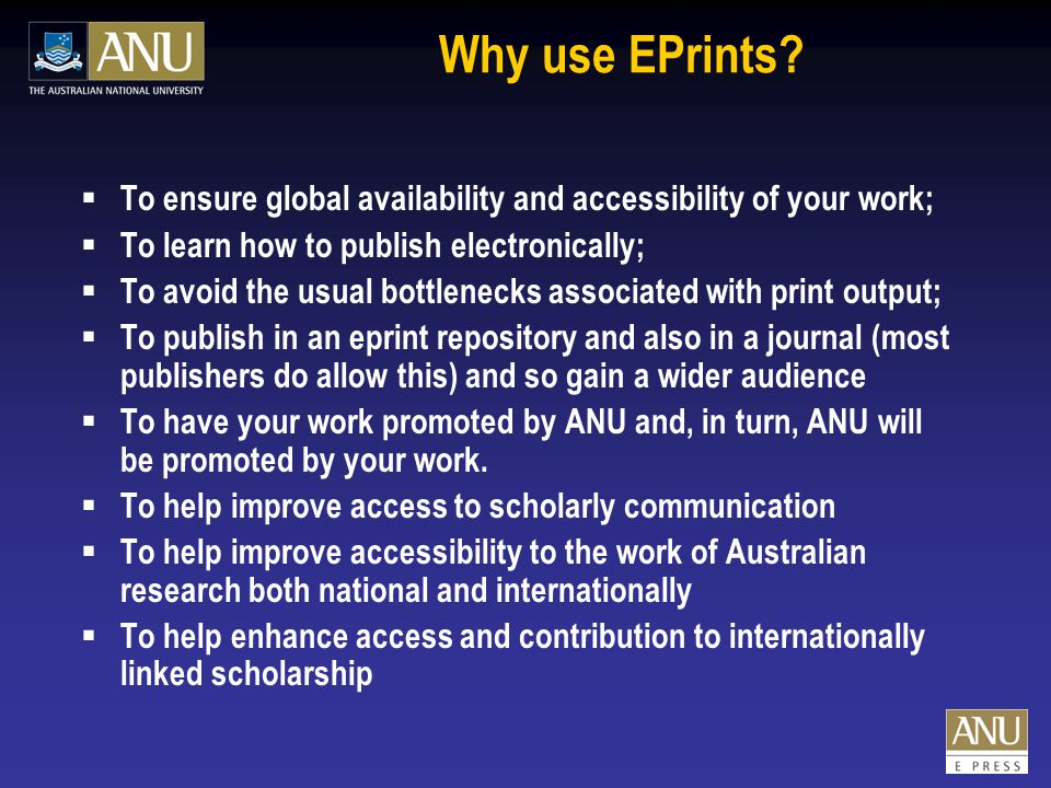 Why use EPrints.