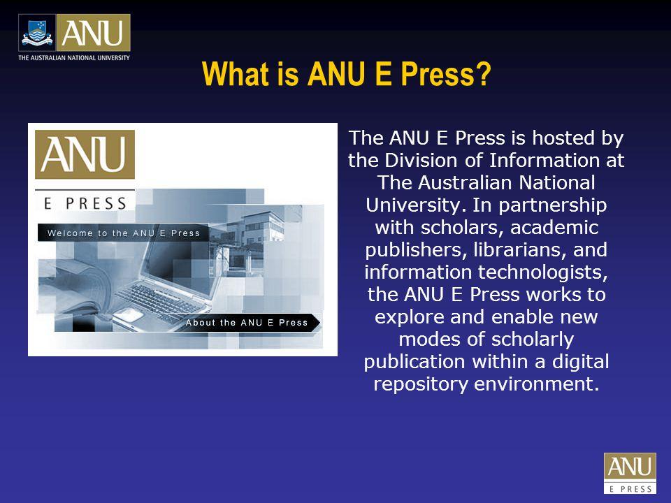 Why do we need an E Press.