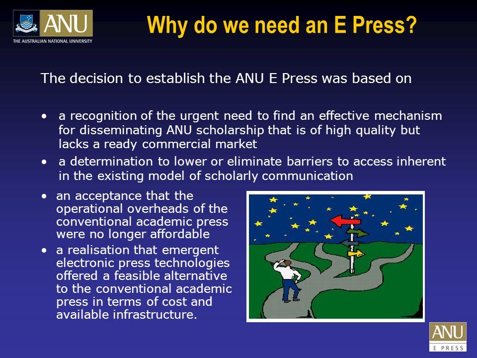Why publish with ANU E Press.