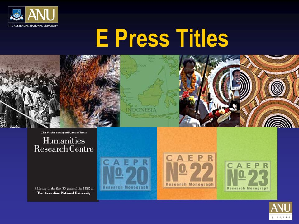 E Press Titles