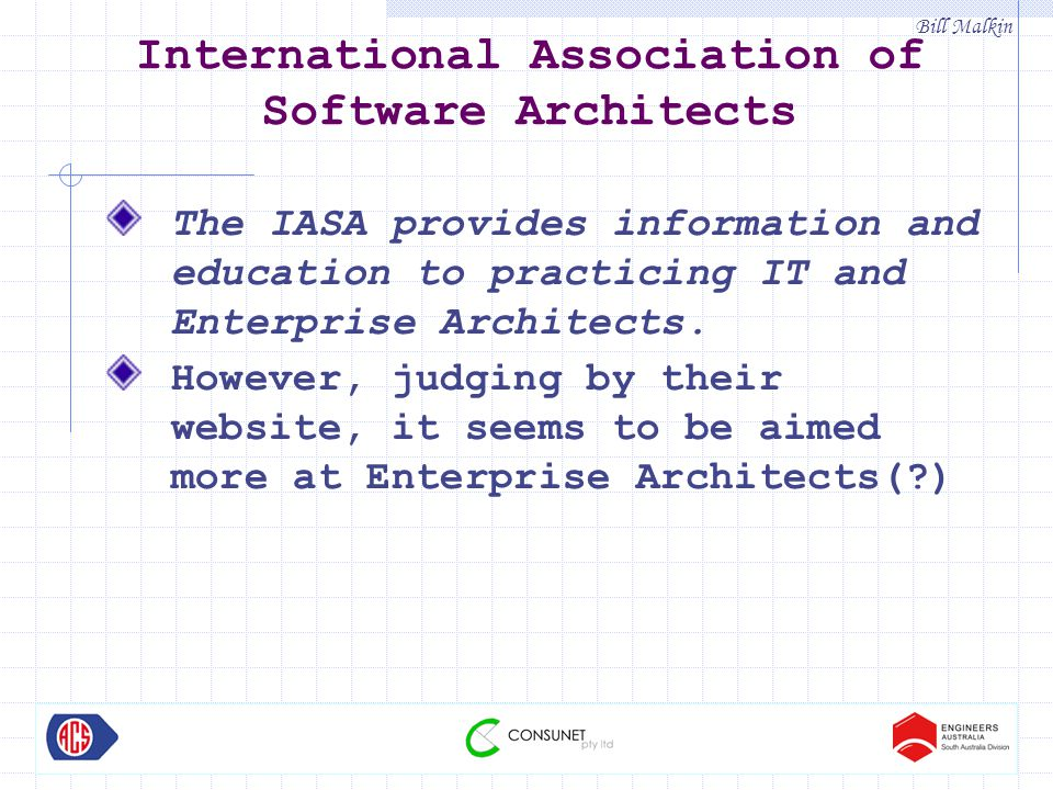 Bill Malkin Parallels between Building Construction and Software Construction
