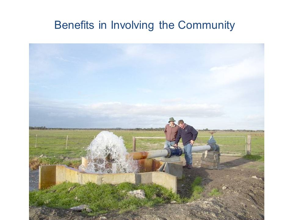 Benefits in Involving the Community