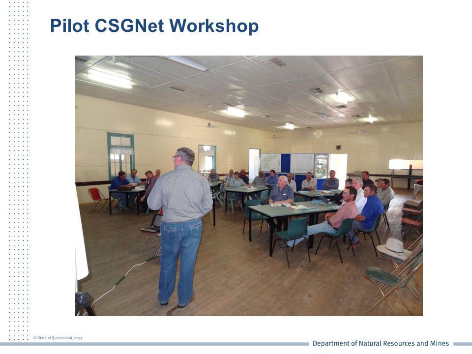 Pilot CSGNet Workshop