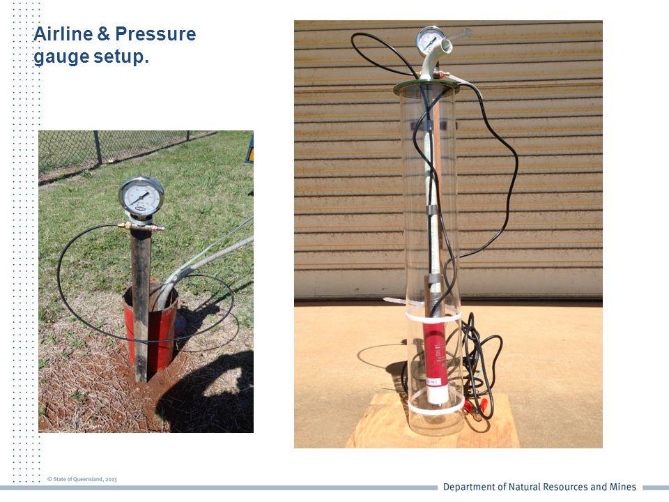Airline & Pressure gauge setup.