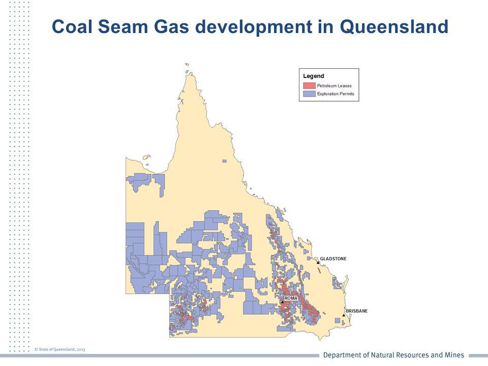 Coal Seam Gas development in Queensland