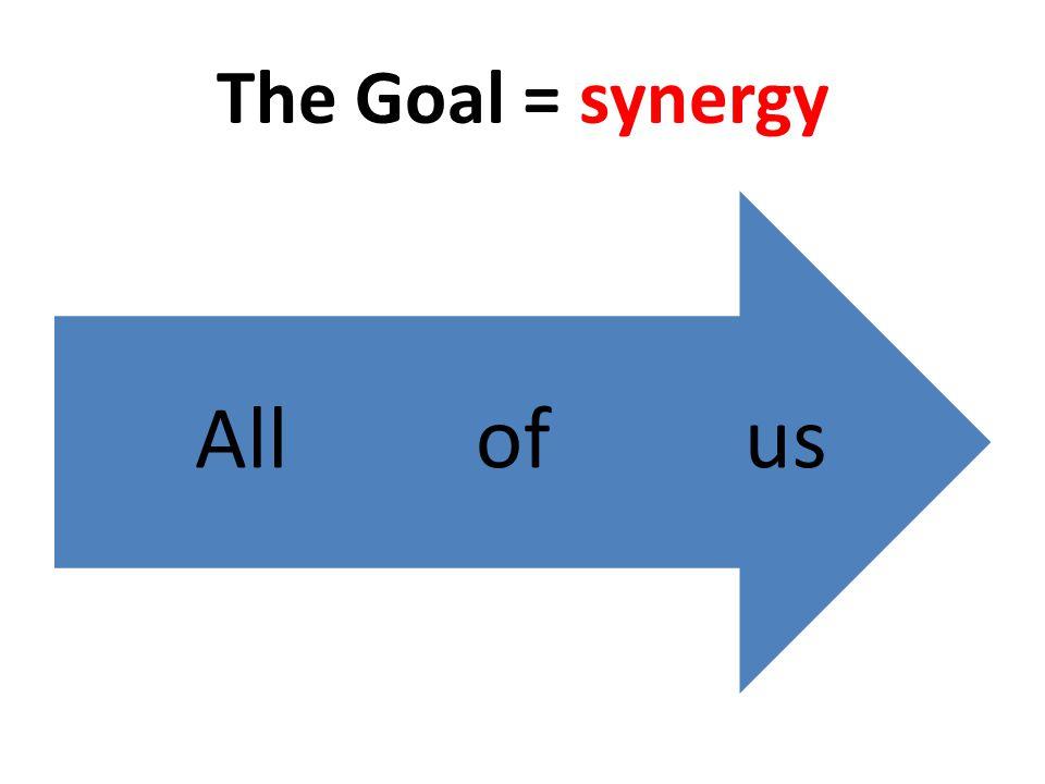 The Goal = synergy usofAll