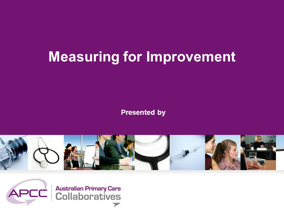 Measuring for Improvement Presented by