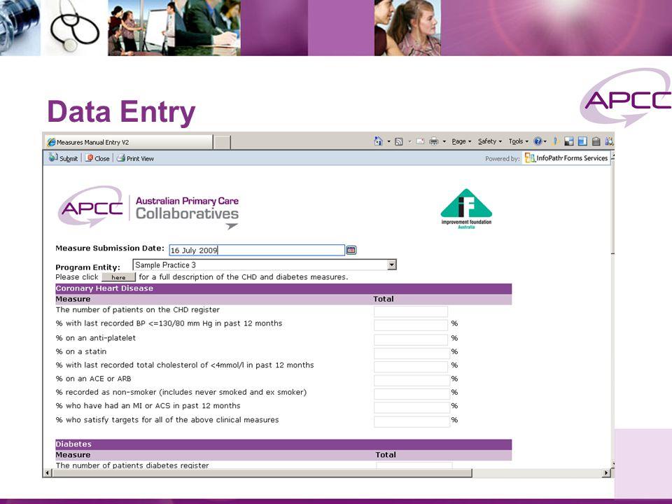 PDSA Entry