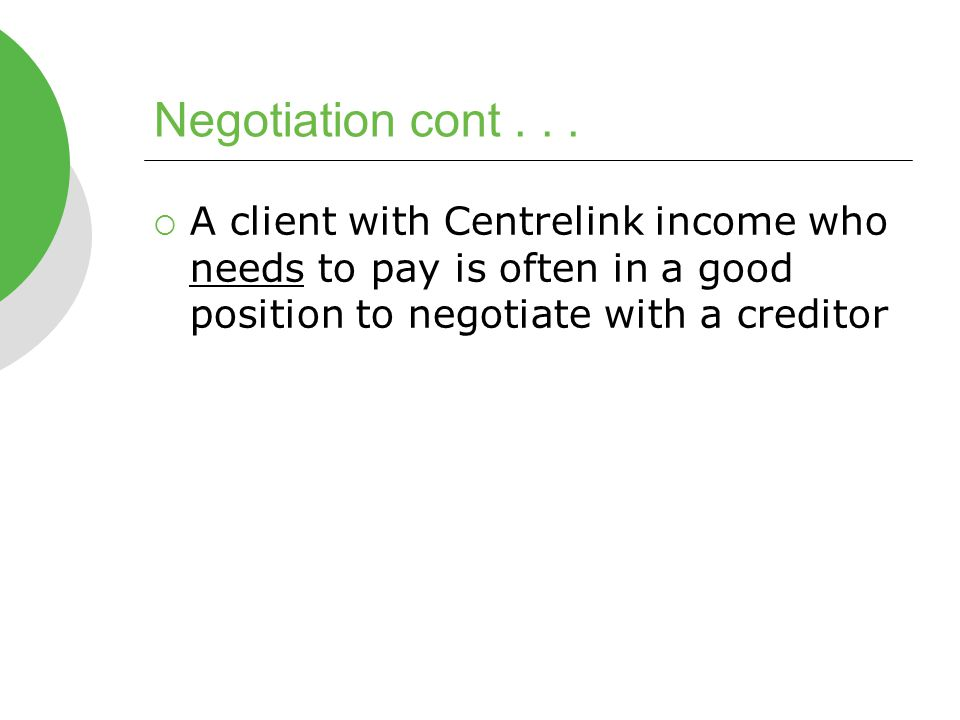 Negotiation cont...