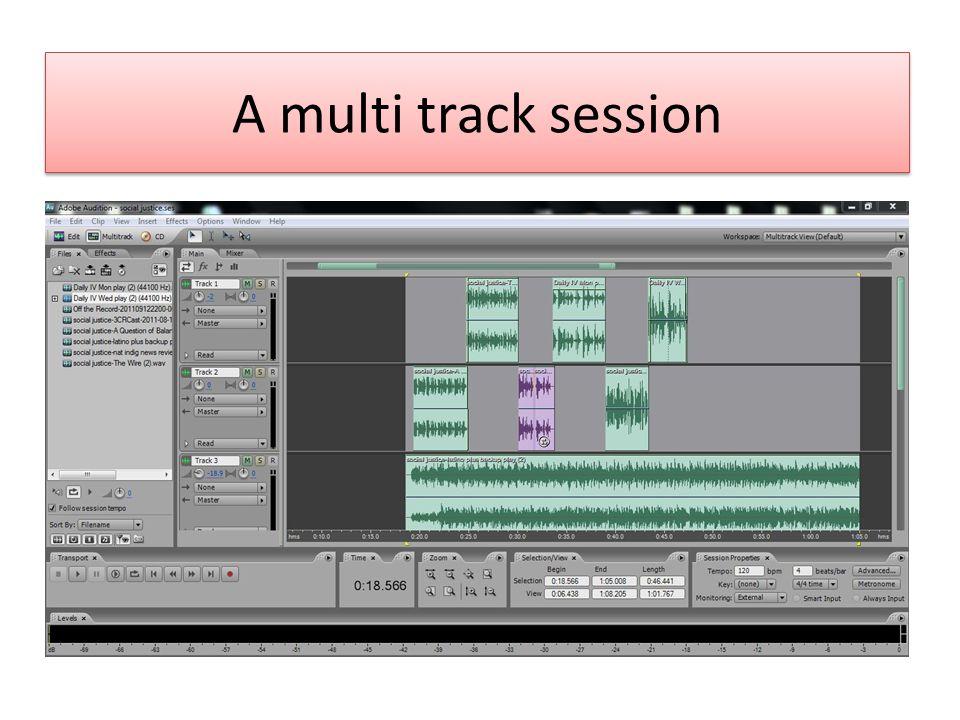 A multi track session