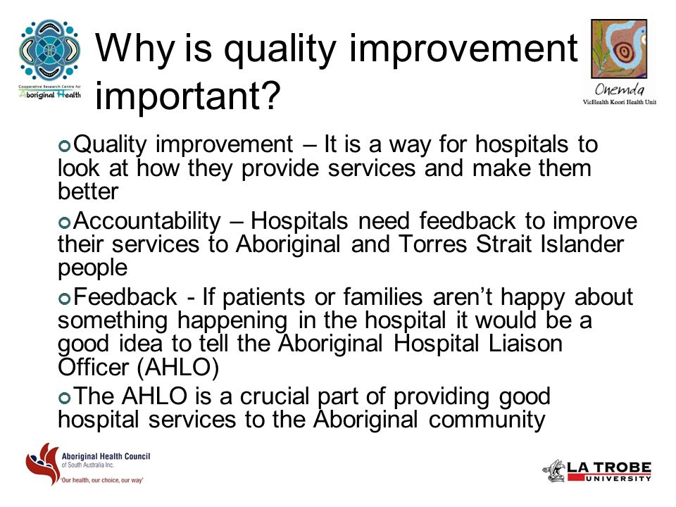 Why is quality improvement important.