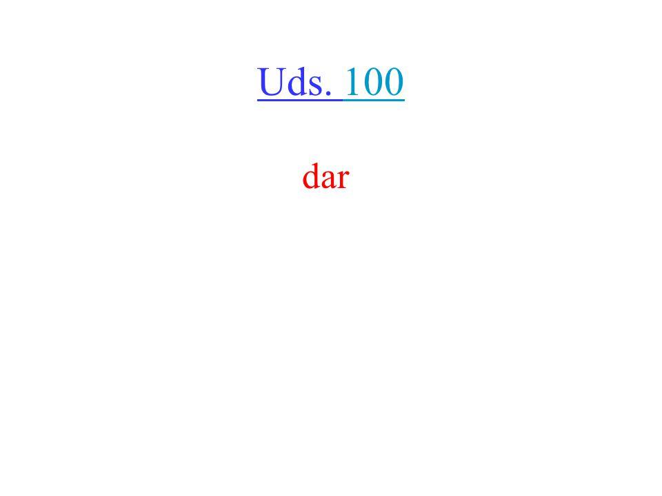Uds. 100100 dar