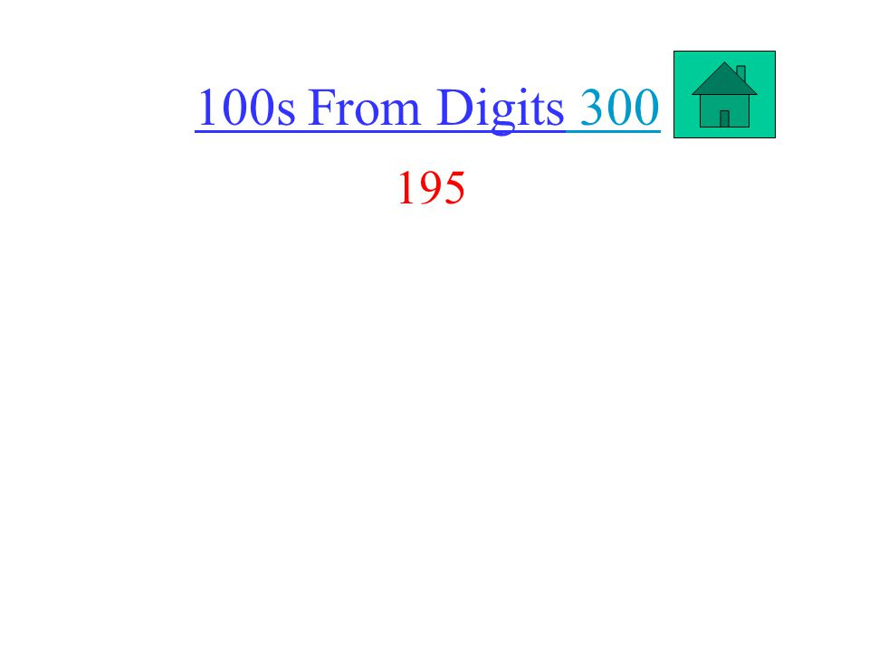 100s From Digits 300 300 195