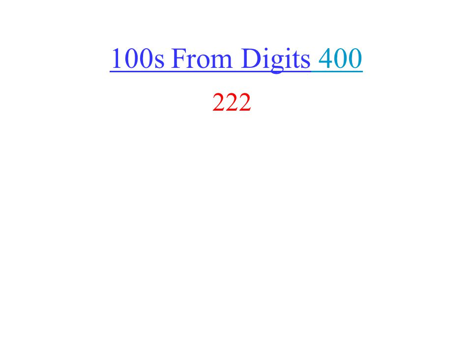 100s From Digits 400 400 222