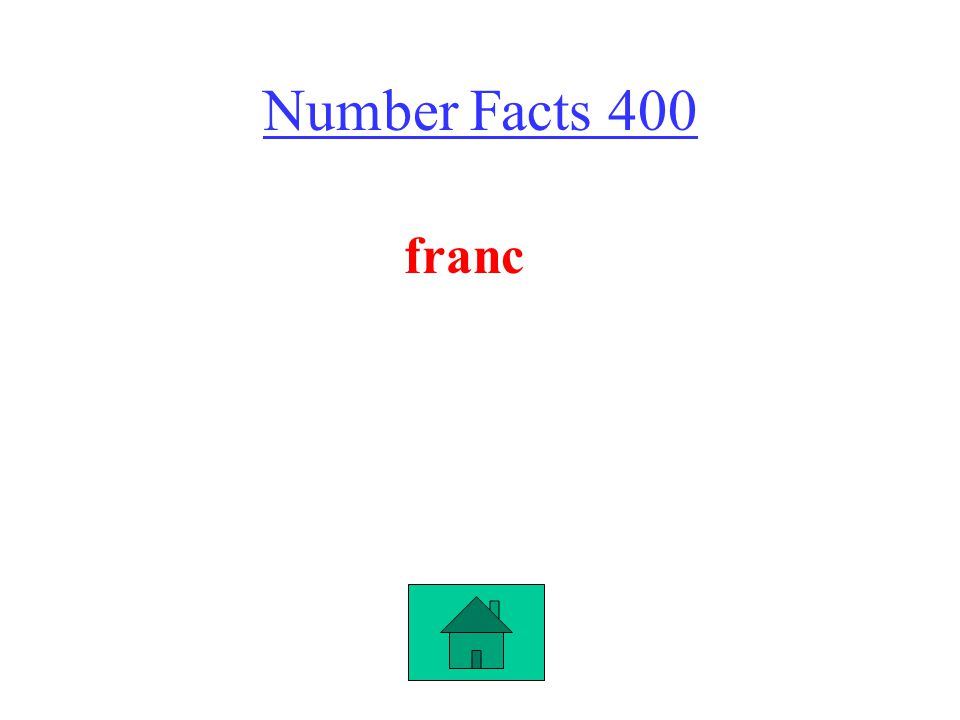 Number Facts 400 franc