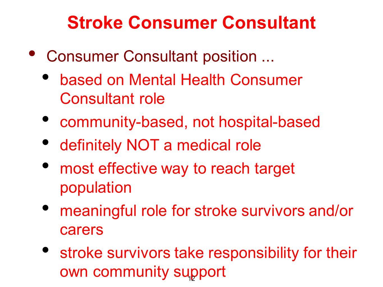 Consumer Consultant position...