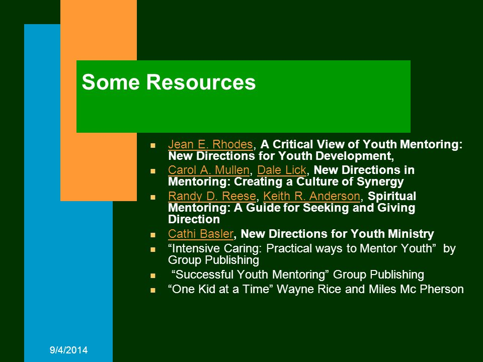 9/4/2014 Some Resources n Jean E.