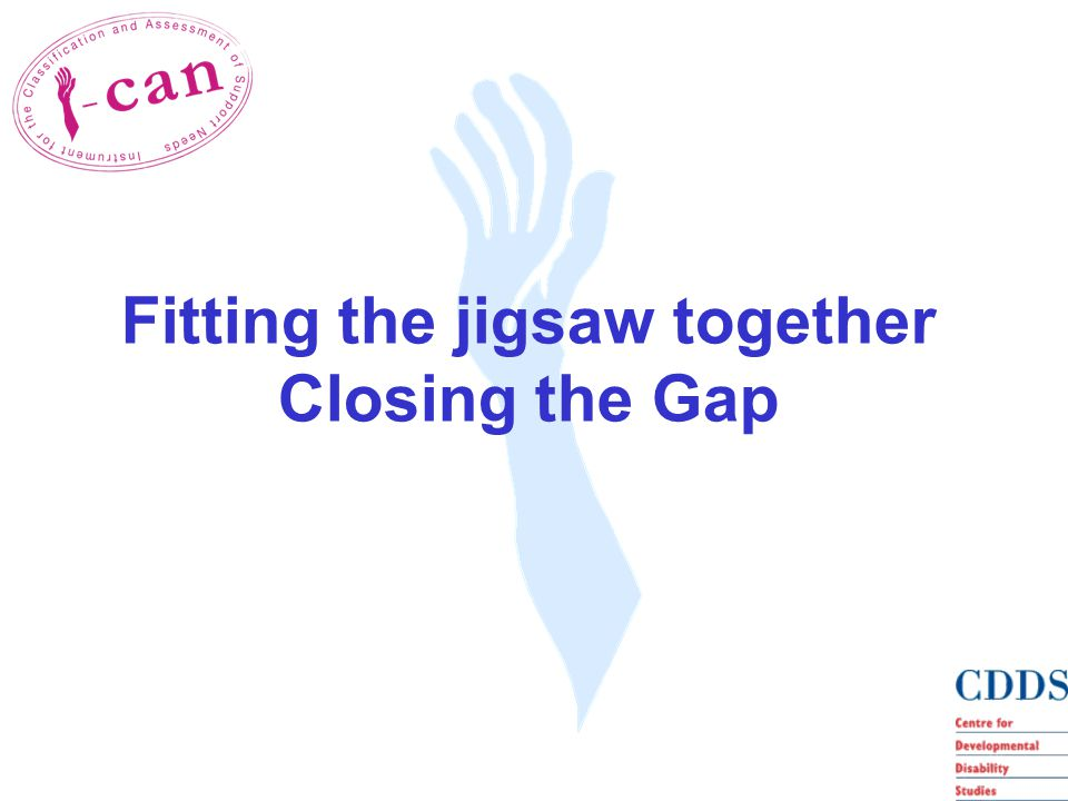 Fitting the jigsaw together Closing the Gap