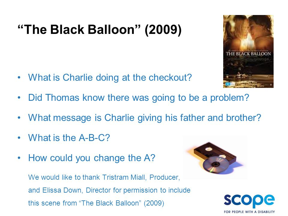 The Black Balloon (2009) What is Charlie doing at the checkout.