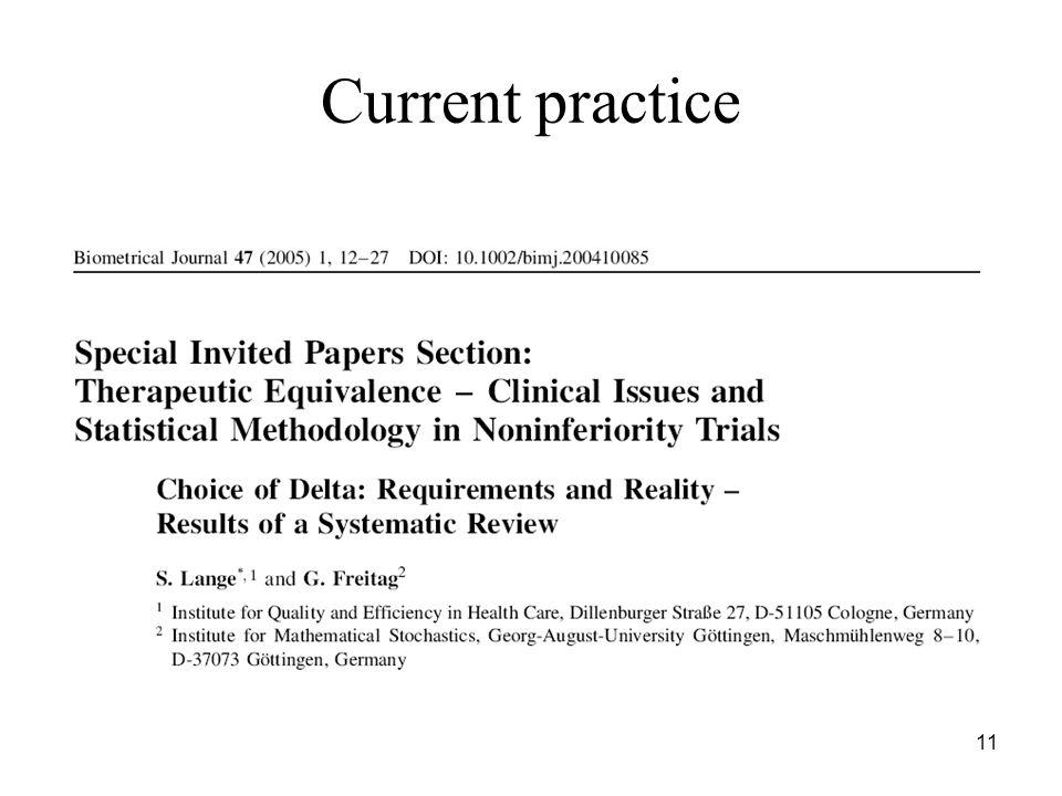 11 Current practice