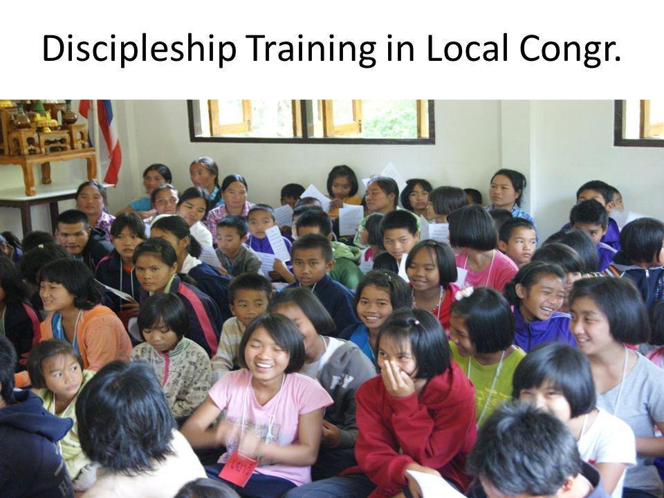 Discipleship Training in Local Congr.