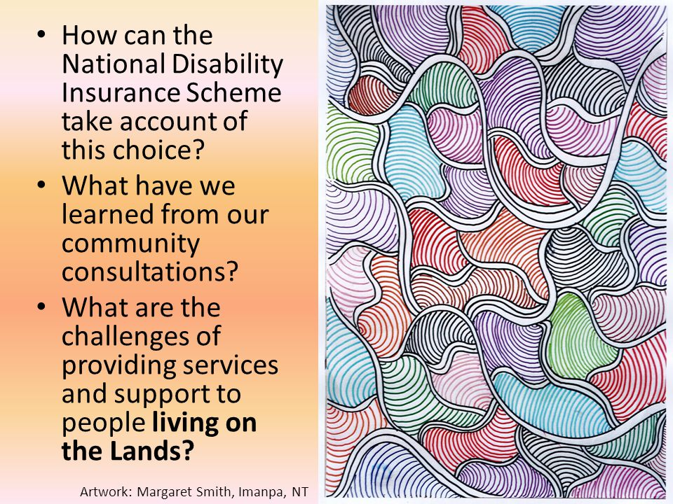 How can the National Disability Insurance Scheme take account of this choice.