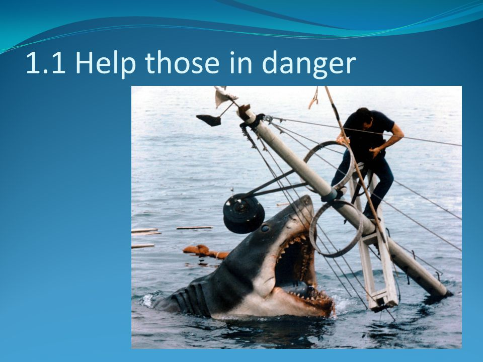 1.1 Help those in danger