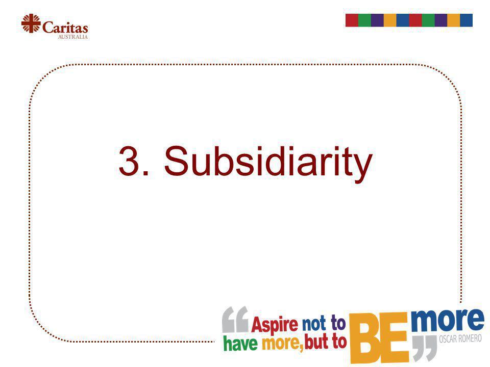 3. Subsidiarity