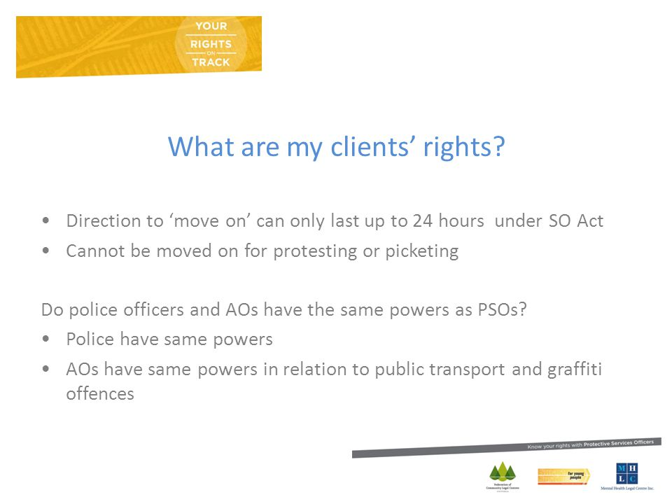 What are my clients' rights.