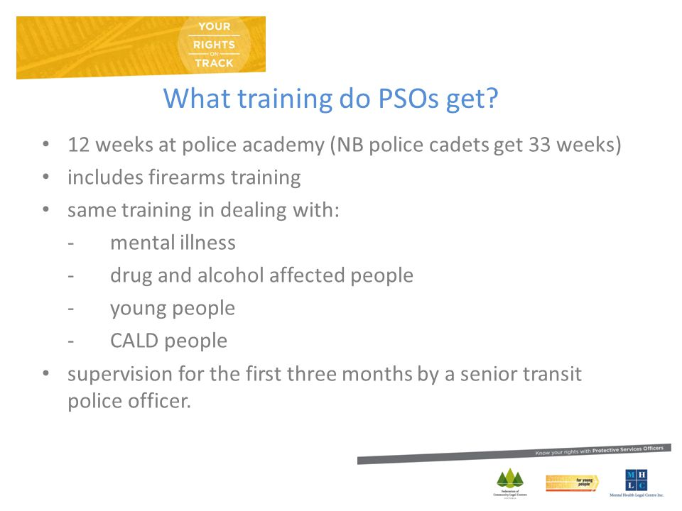 What training do PSOs get.