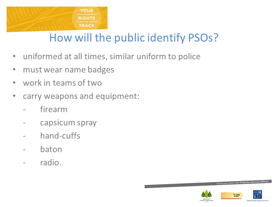 How will the public identify PSOs.