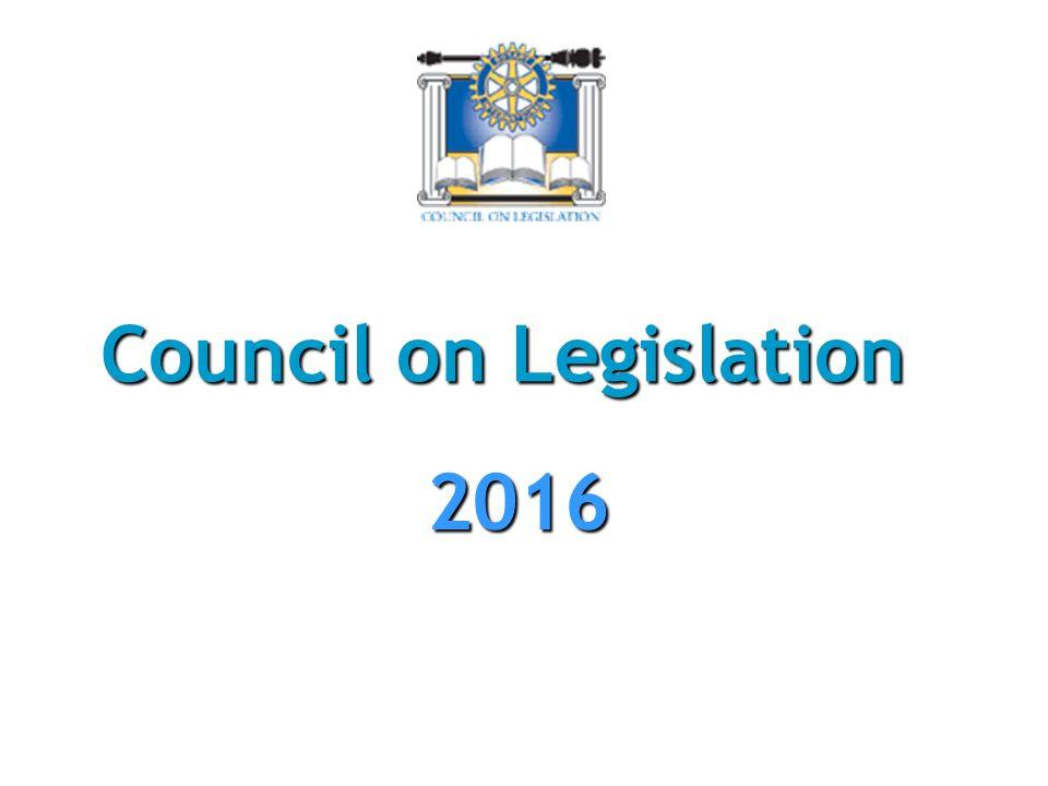 Council on Legislation 2016