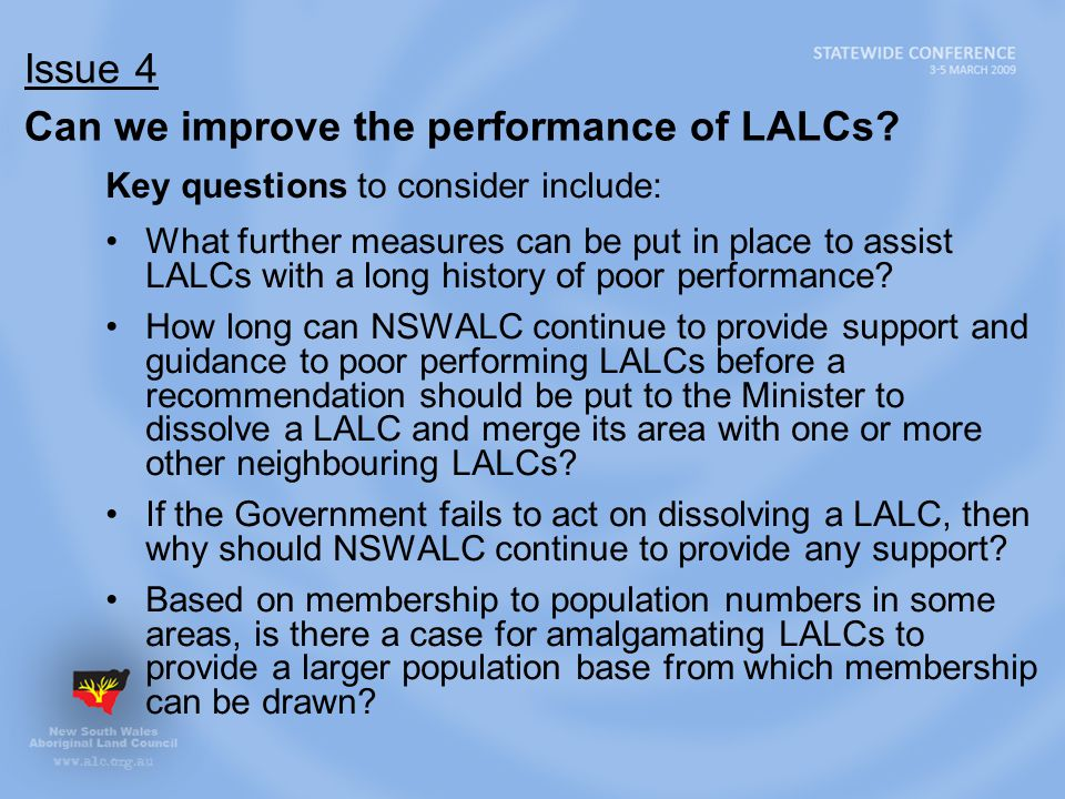 Issue 4 Can we improve the performance of LALCs.