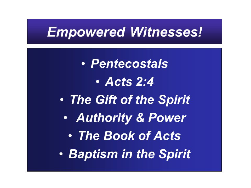 Empowered Witnesses.