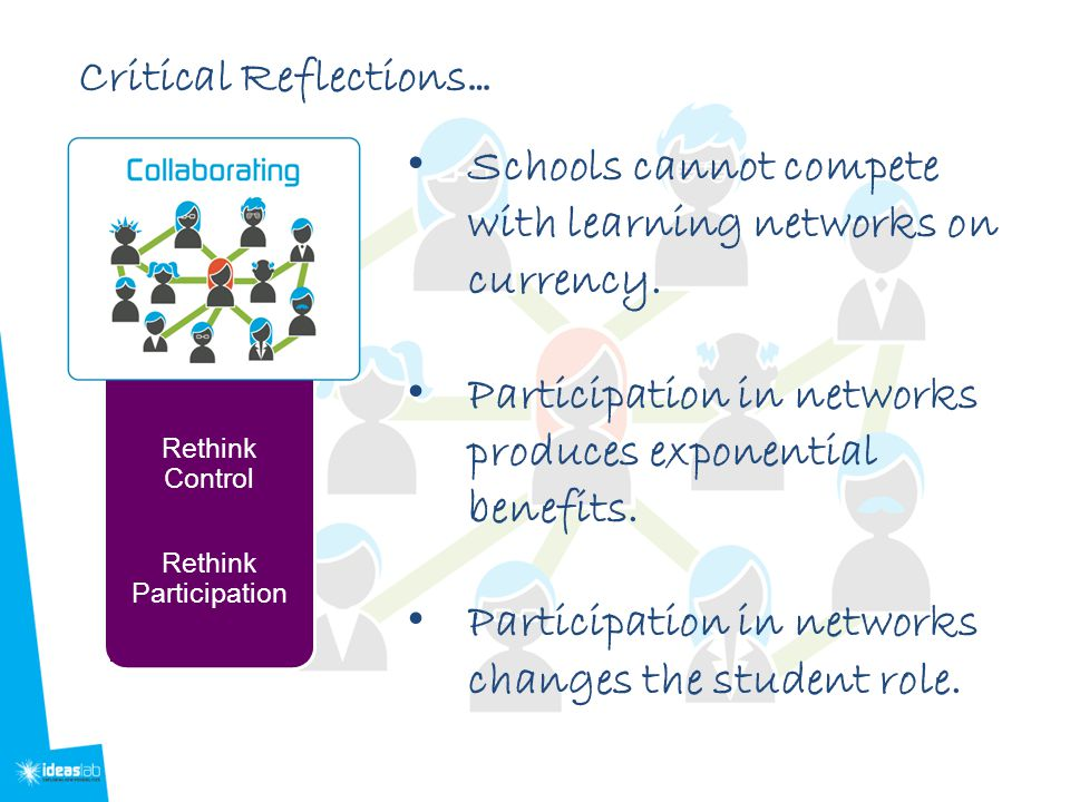 Schools cannot compete with learning networks on currency.