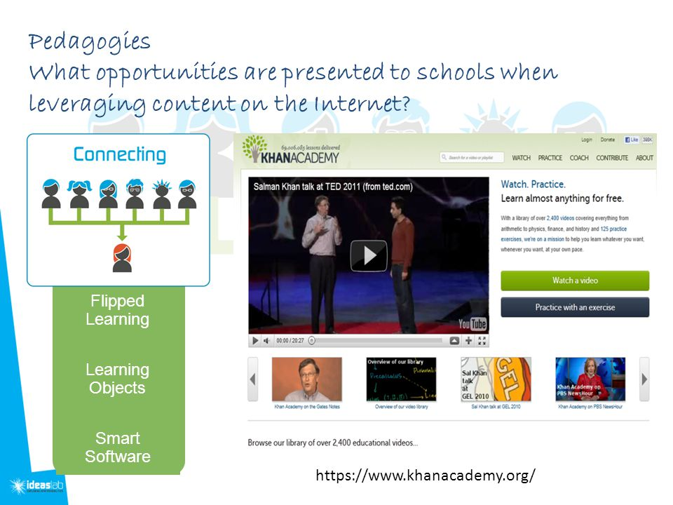 Pedagogies What opportunities are presented to schools when leveraging content on the Internet.