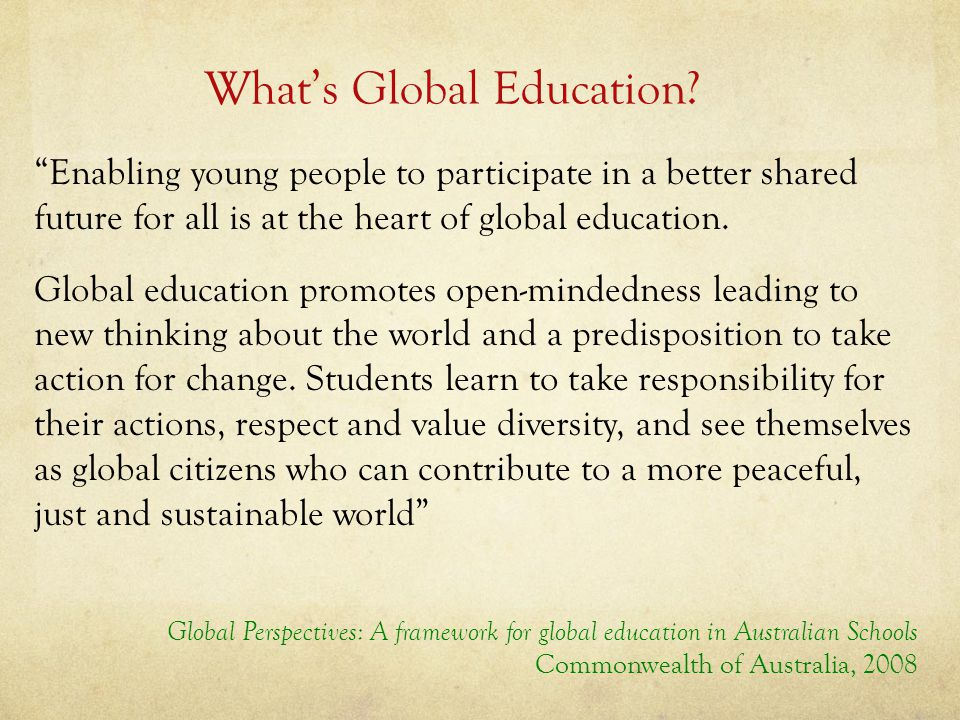 What's Global Education.