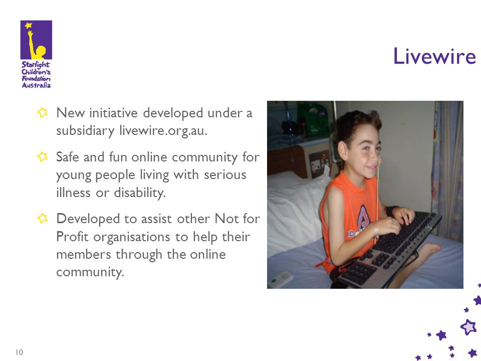 10 Livewire New initiative developed under a subsidiary livewire.org.au.