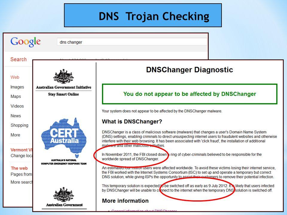 DNS Trojan Checking