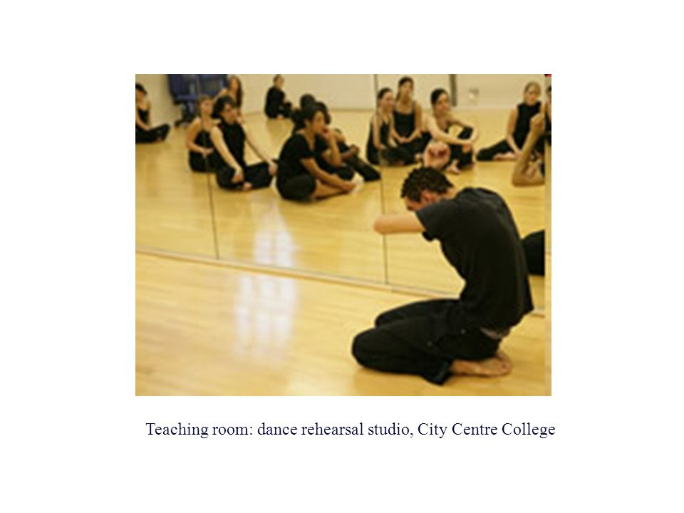 Teaching room: dance rehearsal studio, City Centre College