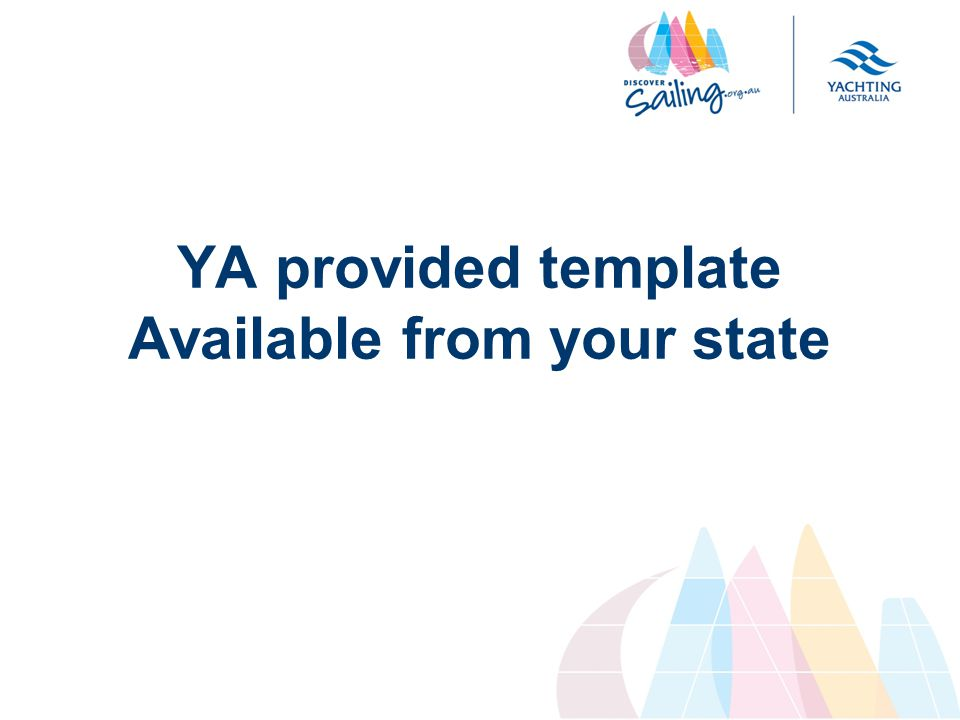 YA provided template Available from your state