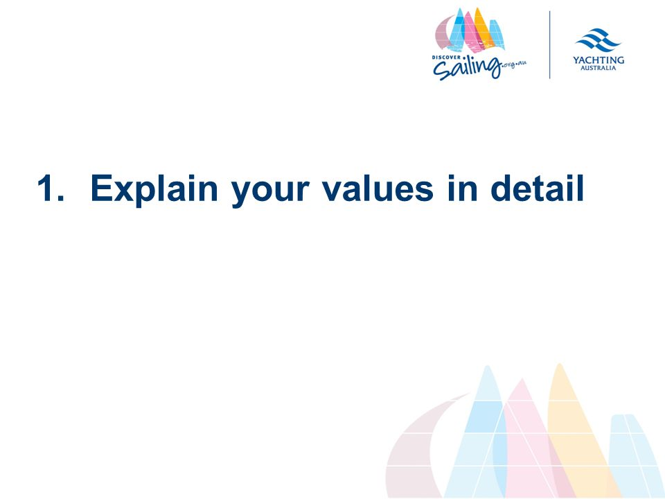 1.Explain your values in detail
