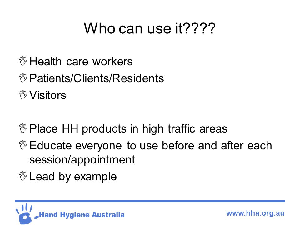 www.hha.org.au Who can use it .
