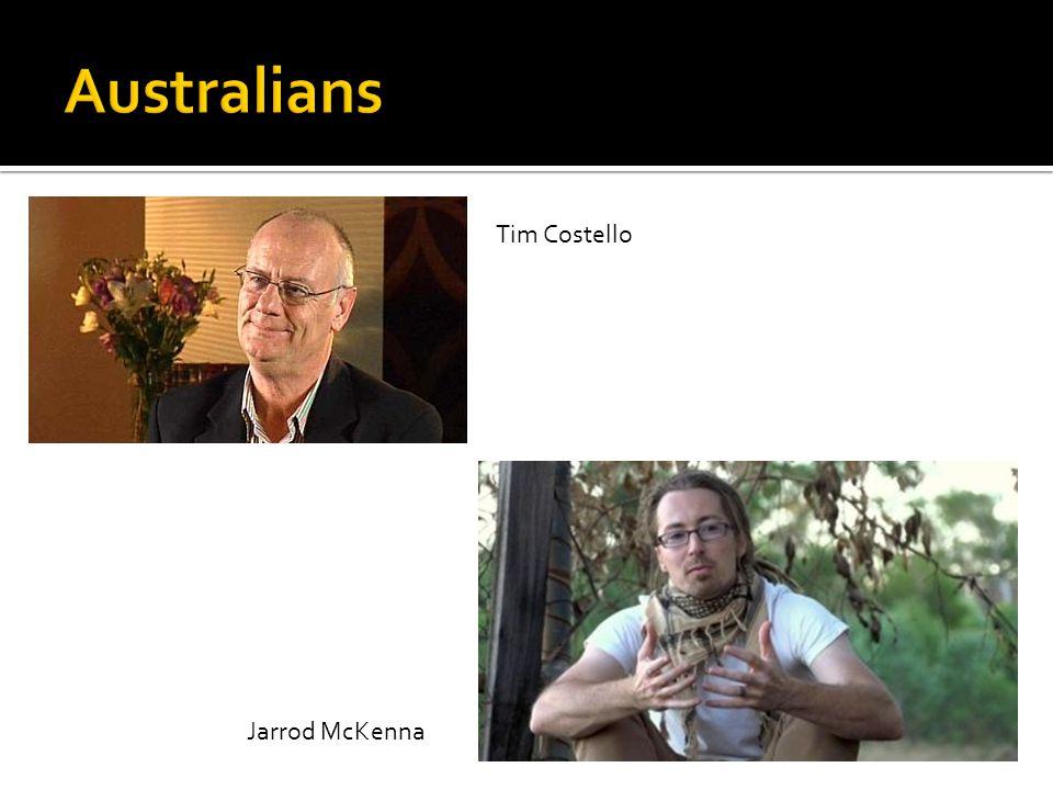 Tim Costello Jarrod McKenna