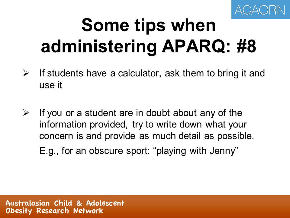  If students have a calculator, ask them to bring it and use it  If you or a student are in doubt about any of the information provided, try to write down what your concern is and provide as much detail as possible.