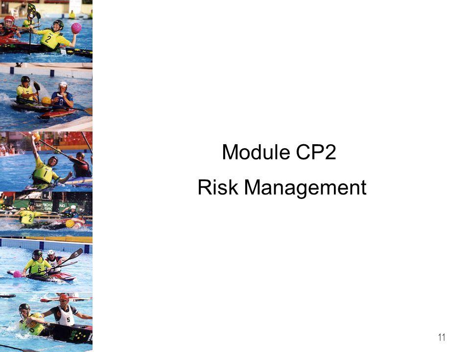 Module CP2 Risk Management 11
